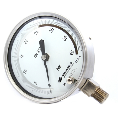 Manodruck reference pressure gauge stainless steel 316L
