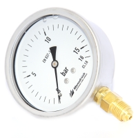 Manodruck pressure gauge 75mm brass internals