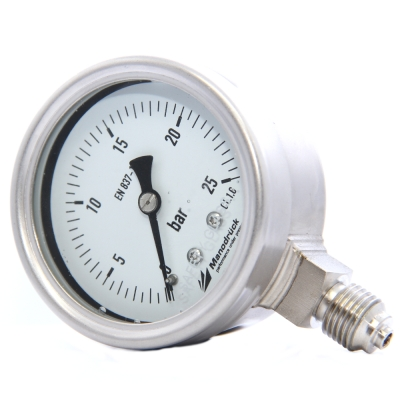 Manodruck pressure gauge 63mm full stainless steel 316L