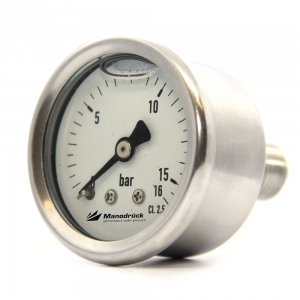 Manodruck pressure gauge 40mm full stainless steel 316