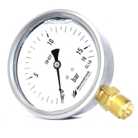 Manodruck pressure gauge 100mm brass internals